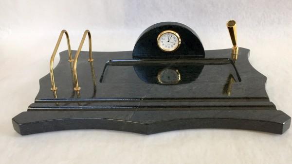 Schreibzeugplatte aus Edelserpentin
