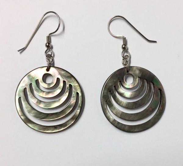 Mandala-Ohrringe Perlmutt
