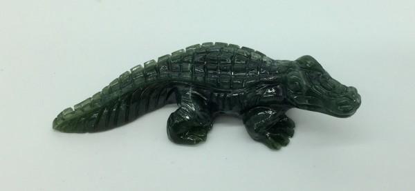Krokodil aus Edelserpentin